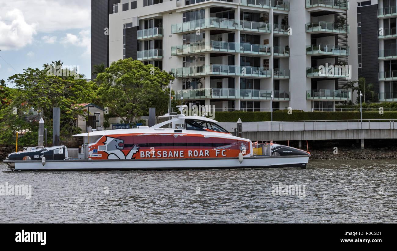 City Cat Ferry, Brisbane River, Brisbane, Australia. - Stock Image