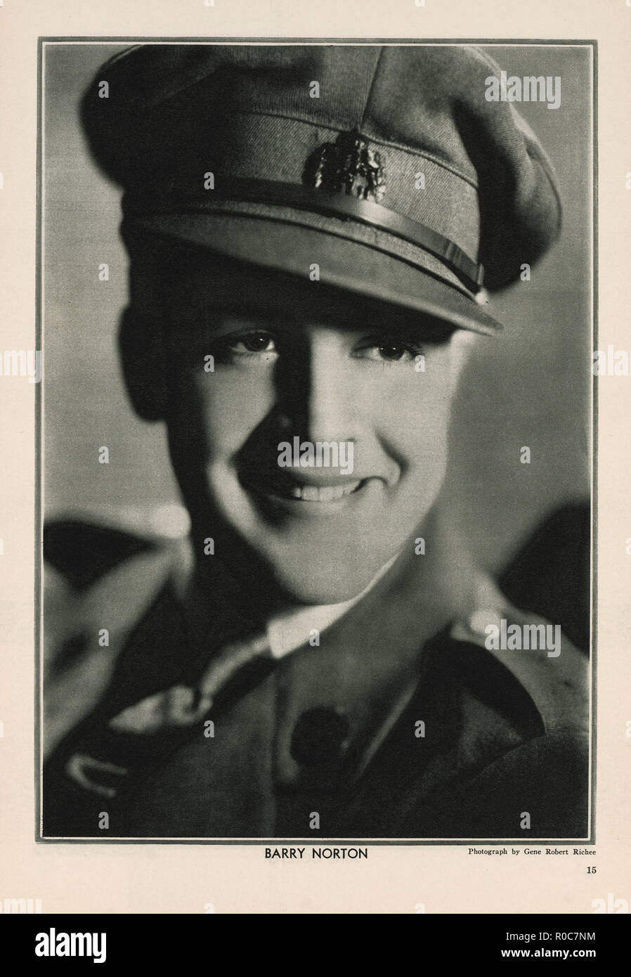 Actor Barry Norton, Publicity Portrait inside The New Movie Magazine, May 1930 - Stock Image