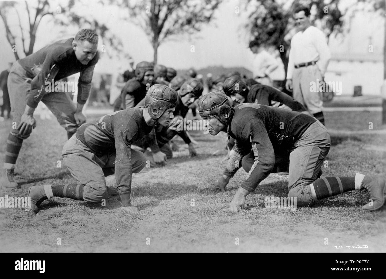 Football Game, Movie Still, 1930's - Stock Image