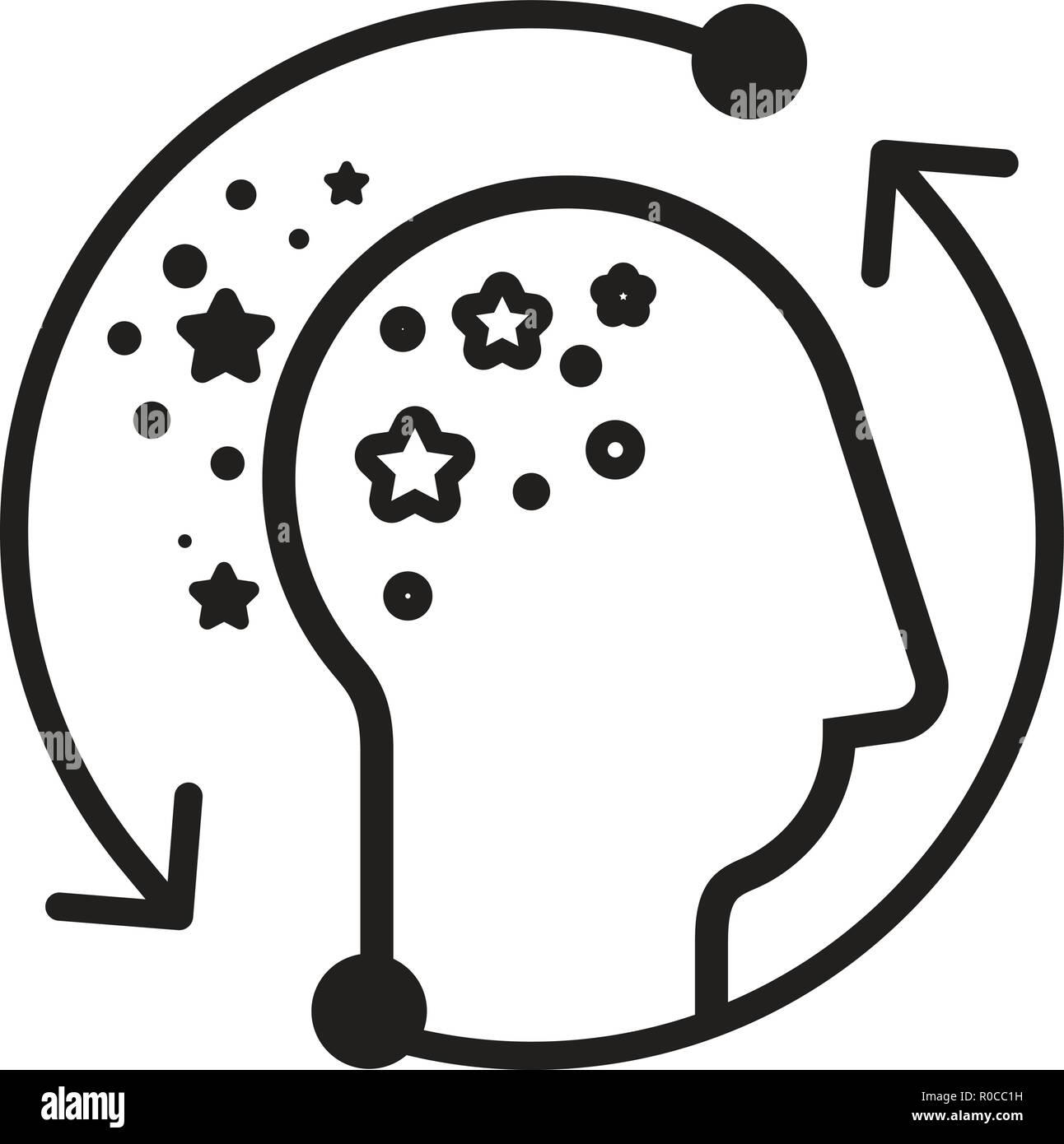 Alzheimer's Disease Icon as EPS 10 File - Stock Vector