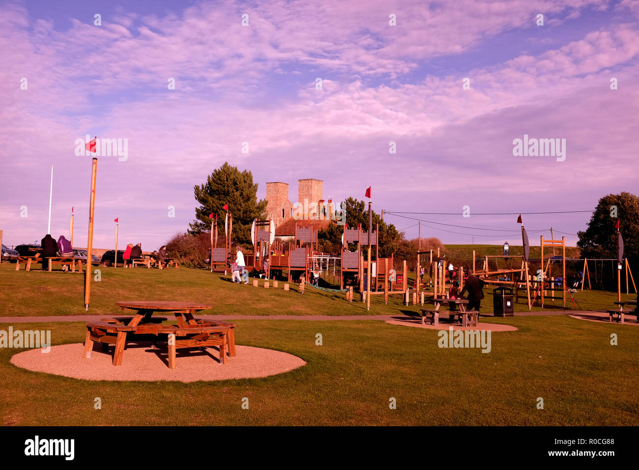 reculver bay in east kent uk nov 2018 - Stock Image