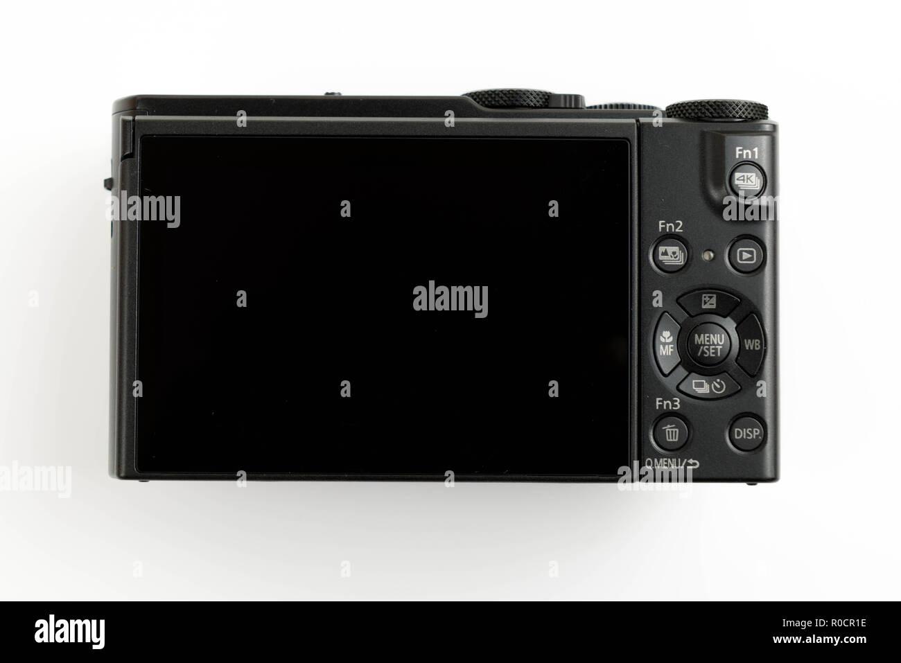 Panasonic Lumix Lx10 / Lx15 on a white isolated background - Stock Image