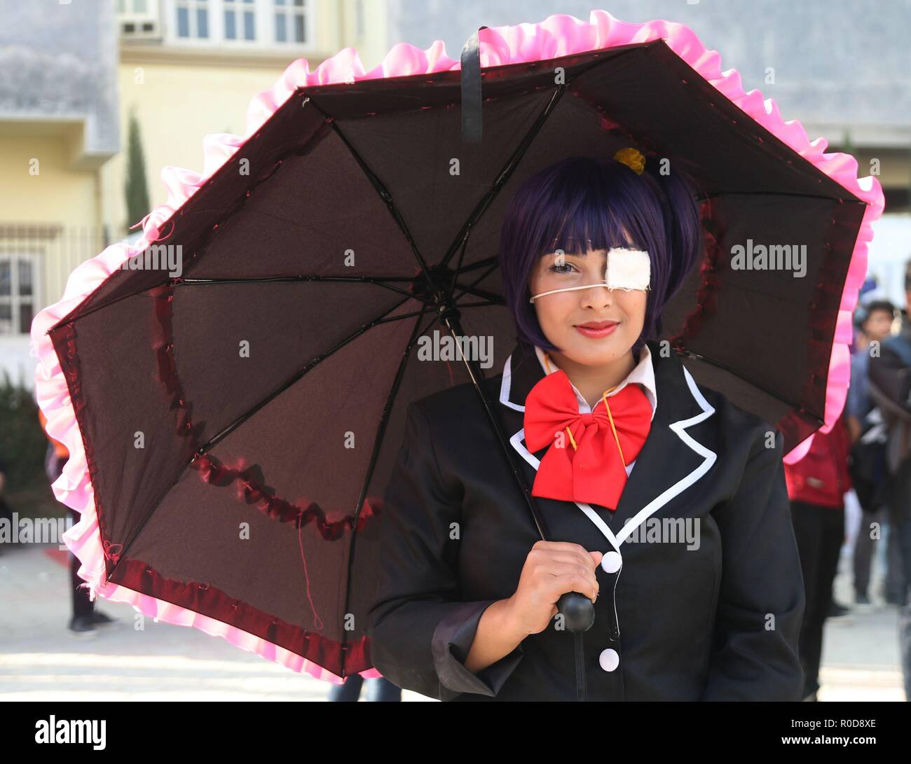 Lalitpur Nepal 3rd Nov 2018 A Girl Dressed In Cosplay Costume