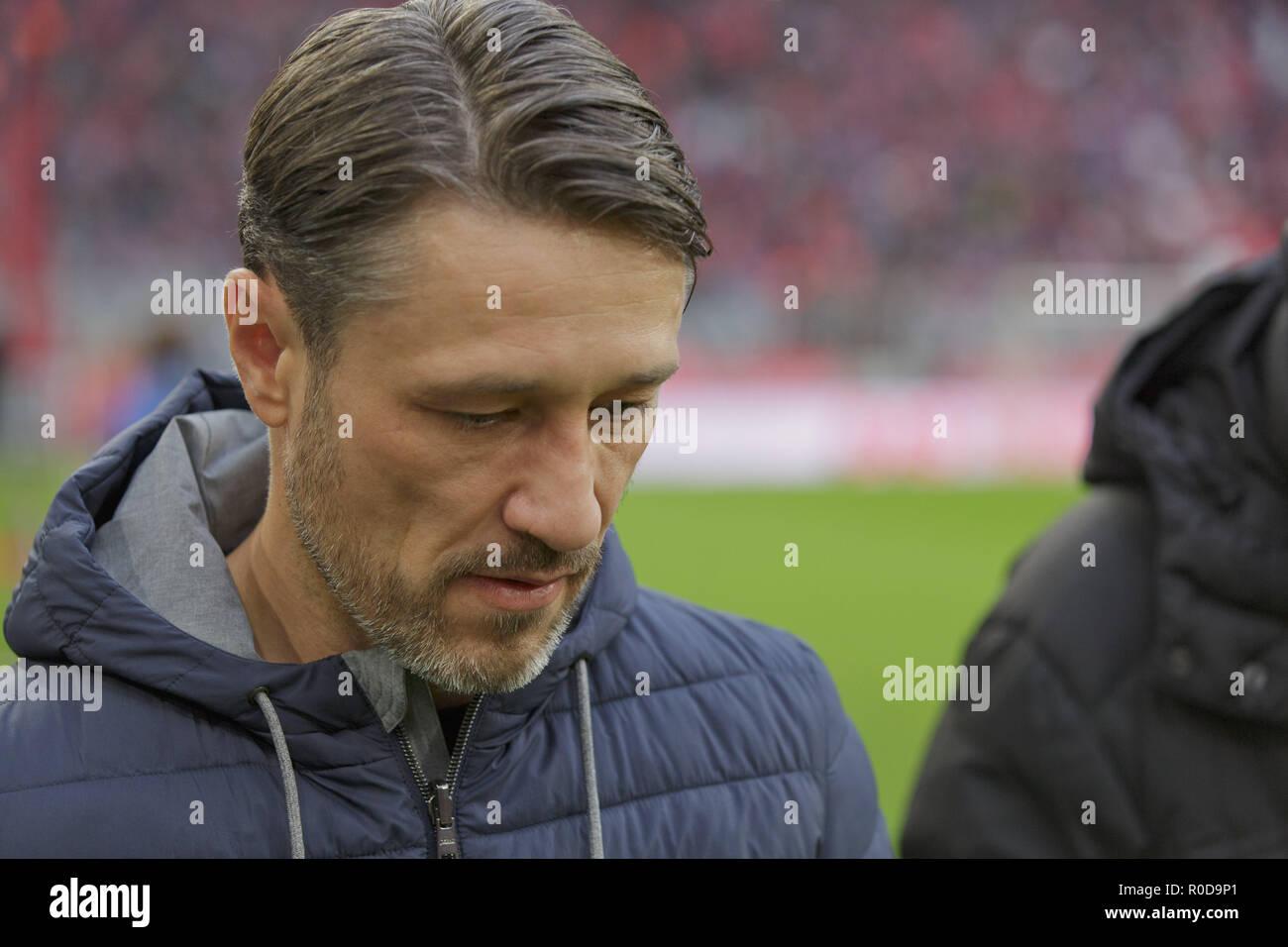 Munich, Deutschland. 03rd Nov, 2018. coach Niko Kovac (FCB
