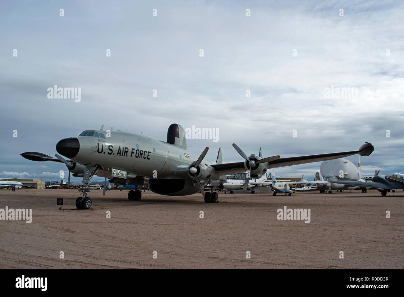 EC-121 Warning Star, Pima Air & Space Museum. Tucson Arizona. USA Stock Photo