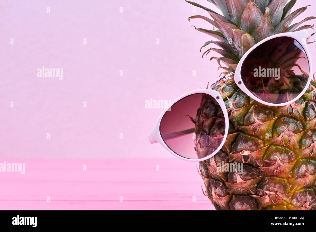 75dfda912d243 Funny pineapple in sunglasses and copy space Stock Photo  224032890 ...