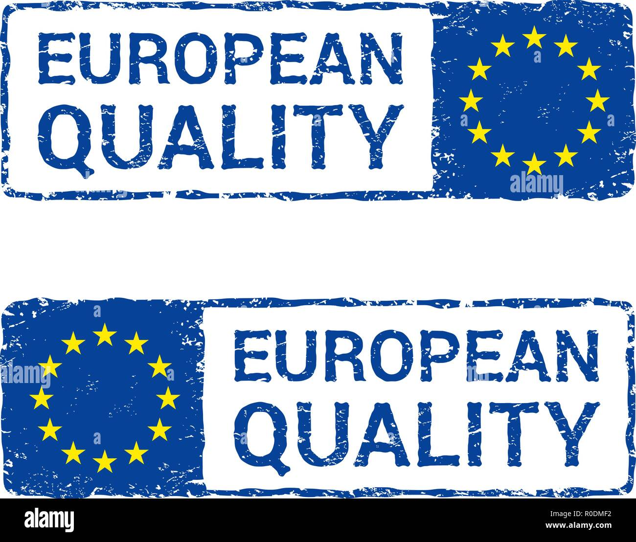European Union quality, EU vector letter stamp. - Stock Image