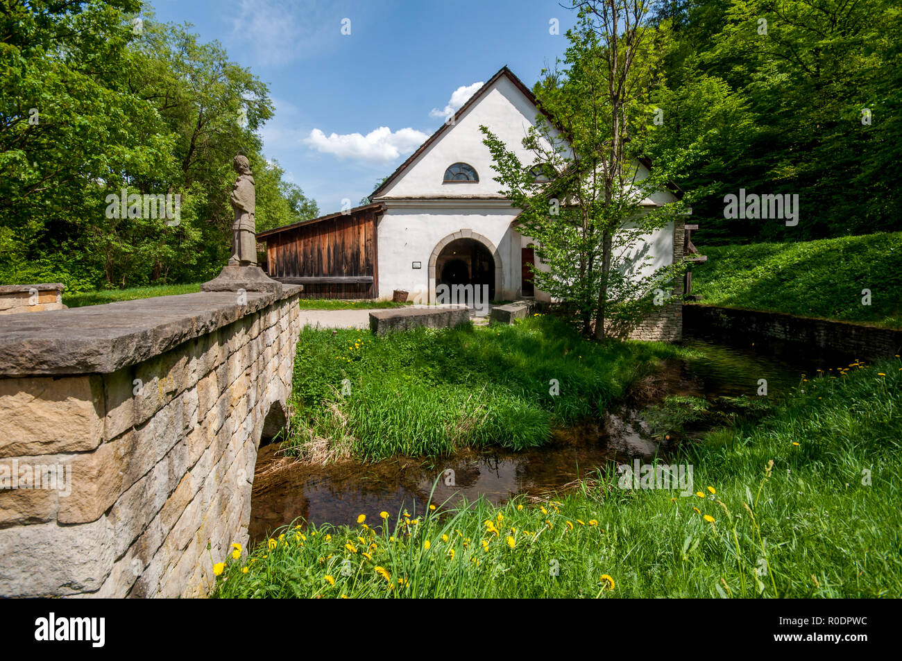 The Wallachian Open Air Museum of folk architecture, Roznov pod Radhostem, Zlin region, - Stock Image