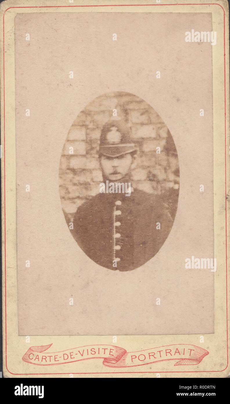 CDV Carte De Visite Of A Victorian Policeman