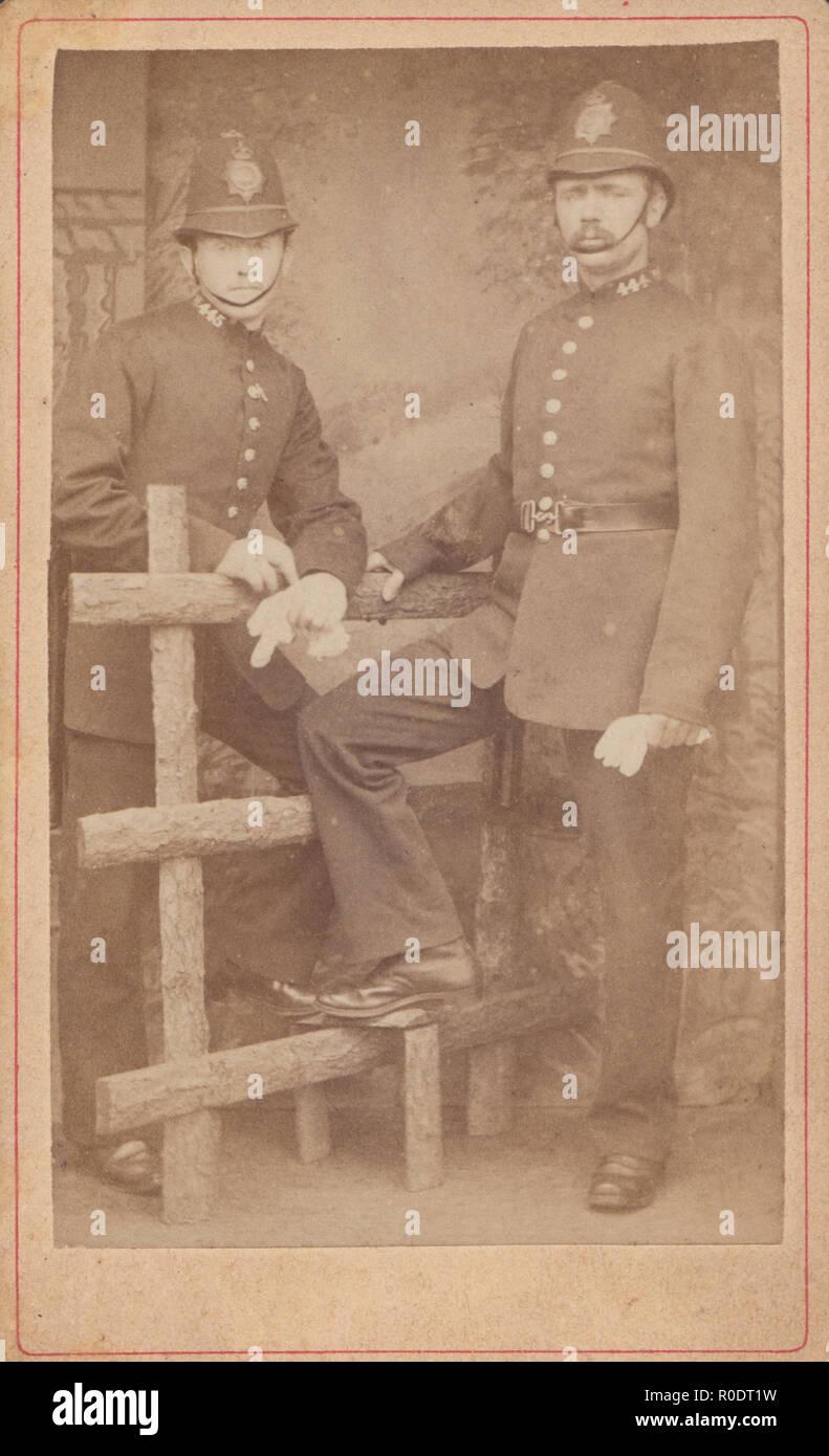 West Croydon CDV Carte De Visite Of Two Victorian Policemen Collar S
