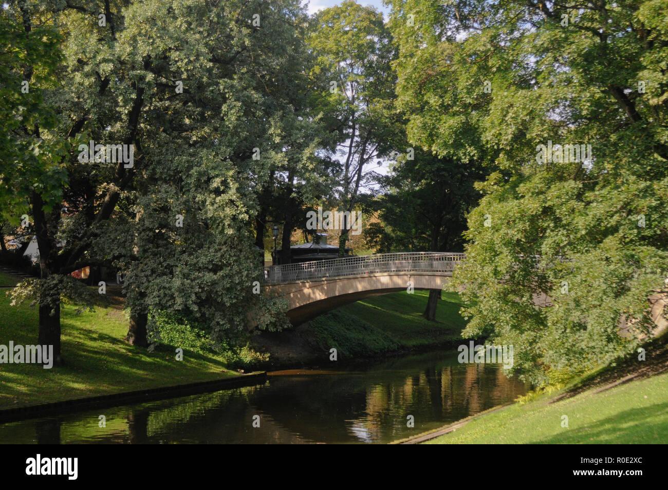 Bastion Hill - Bastejkalna park,  Riga, Latvia - Stock Image