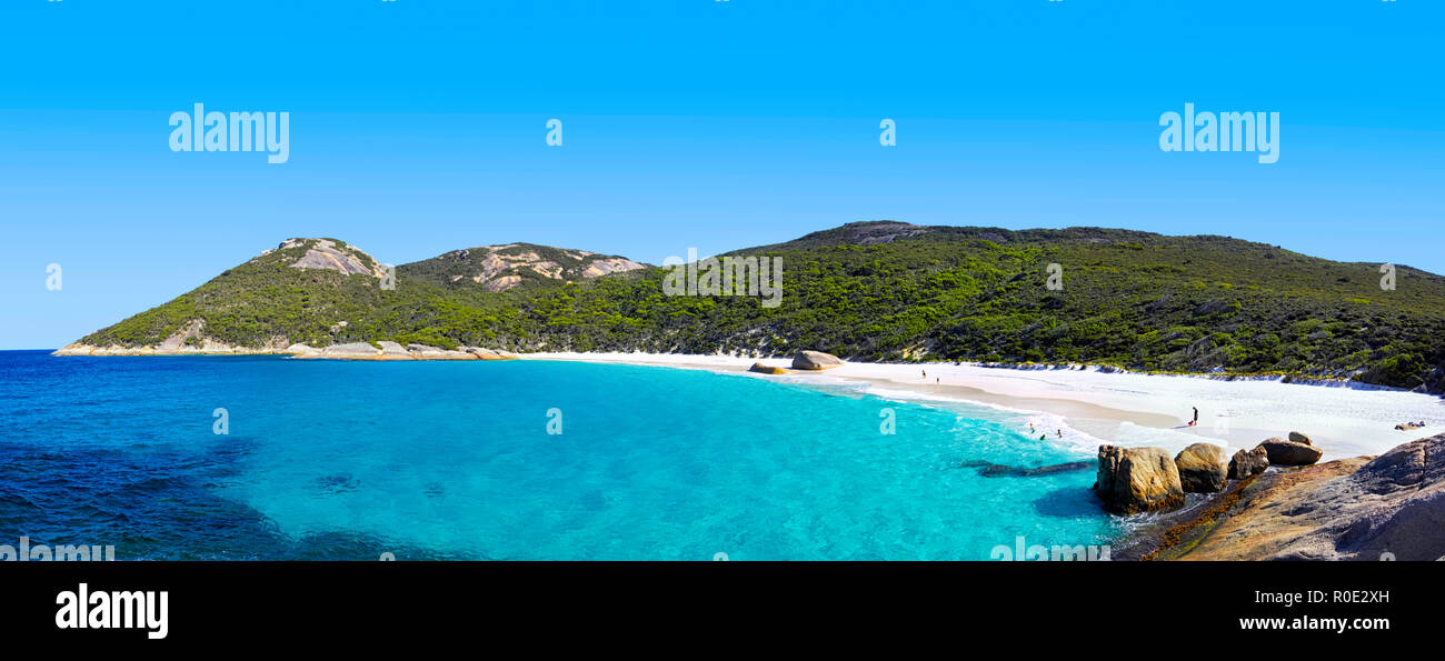Little Beach at Two Peoples Bay Nature Reserve, near Albany, Western Australia. - Stock Image
