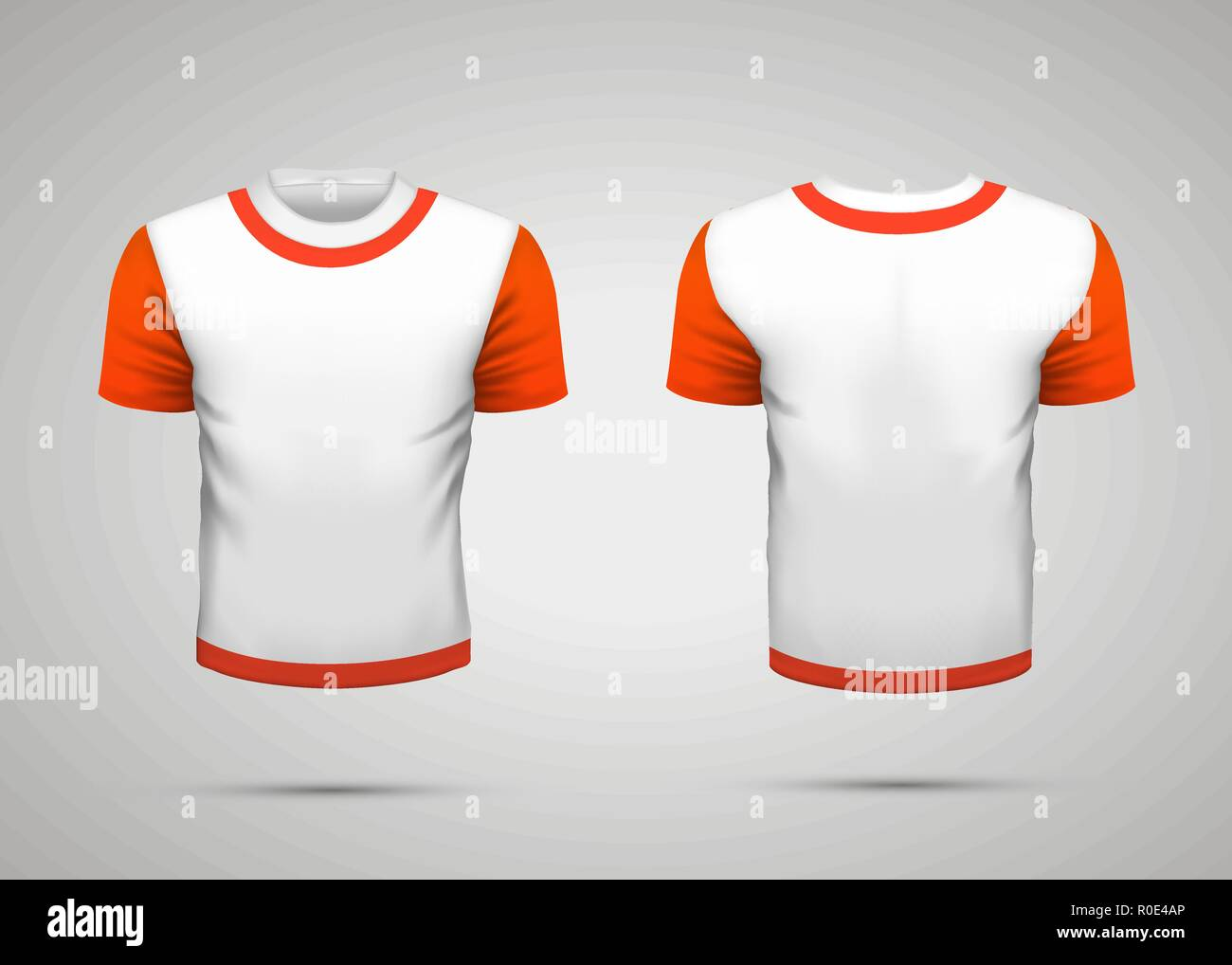 sport t shirt front and back