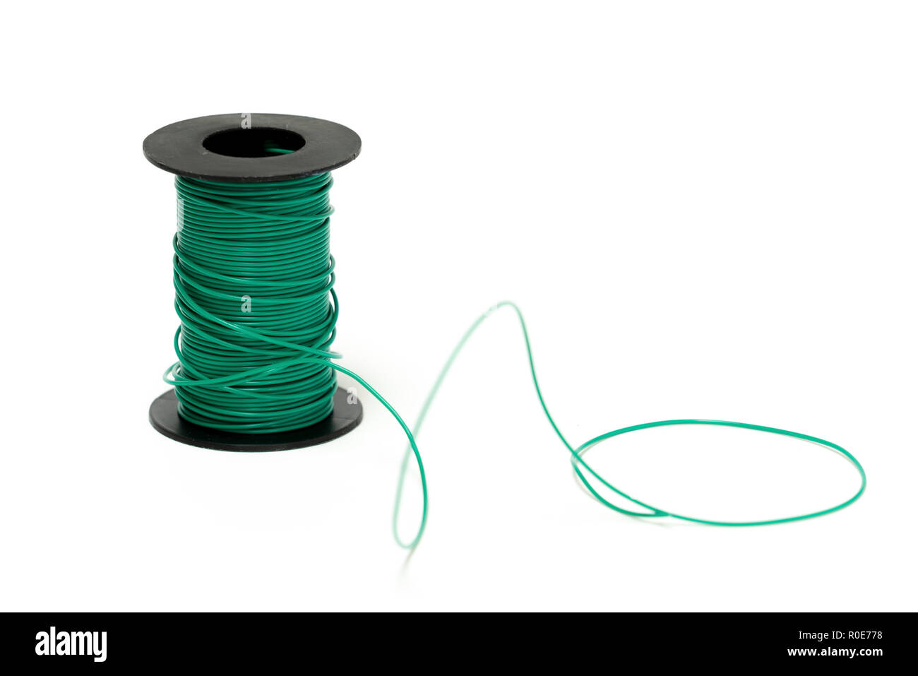 Spool of electrical cable. - Stock Image