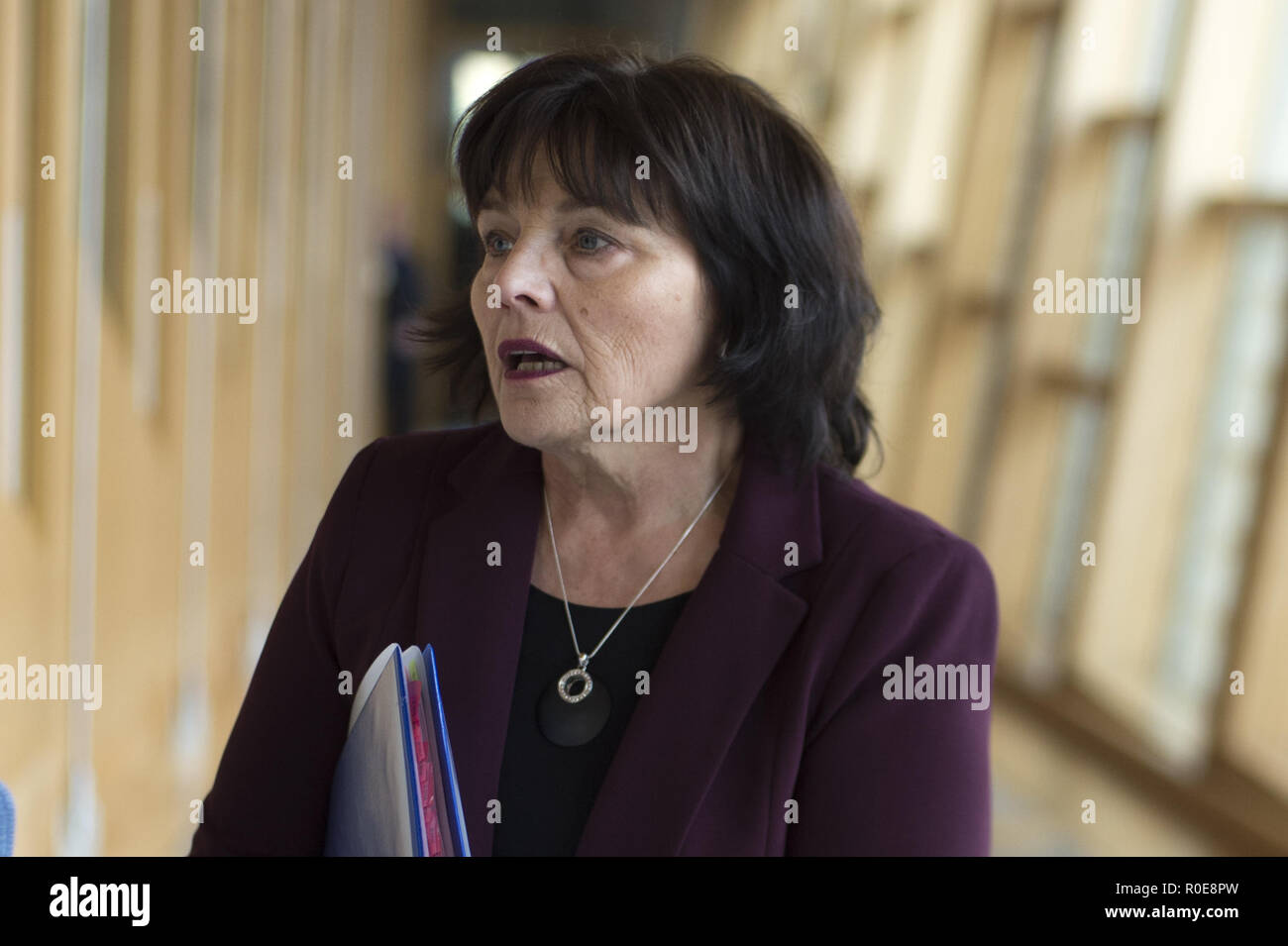 Politicians attend the Scottish First Minister's Questions at Holyrood.  Featuring: Jeane Freeman Where: Edinburgh, United Kingdom When: 04 Oct 2018 Credit: Euan Cherry/WENN Stock Photo