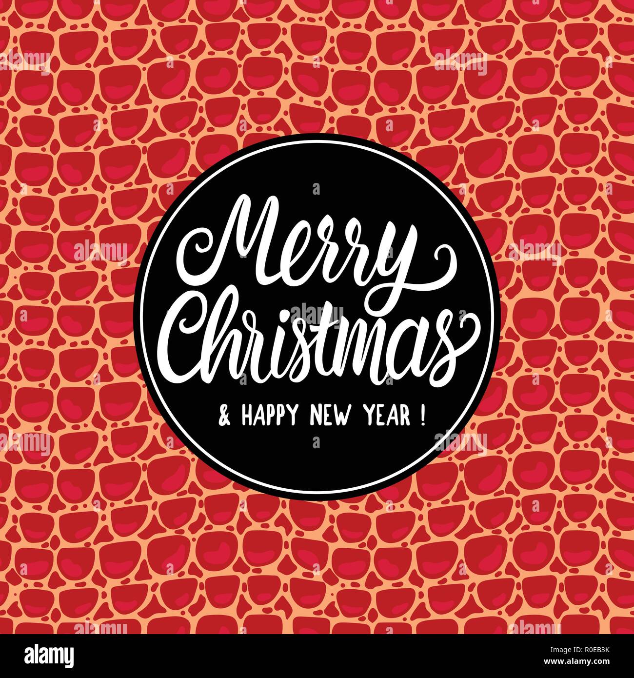 lettering merry christmas and new year luxurious holiday design card vector fashion texture red leather background