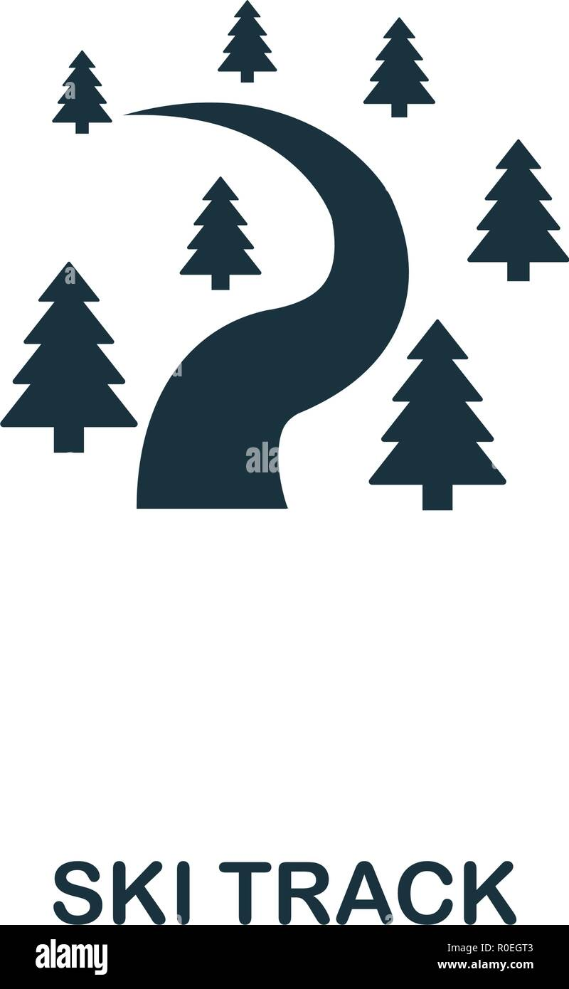 Ski Track icon. Premium style design from winter sports collection. UX and UI. Pixel perfect ski track icon for web design, apps, software, printing u - Stock Vector