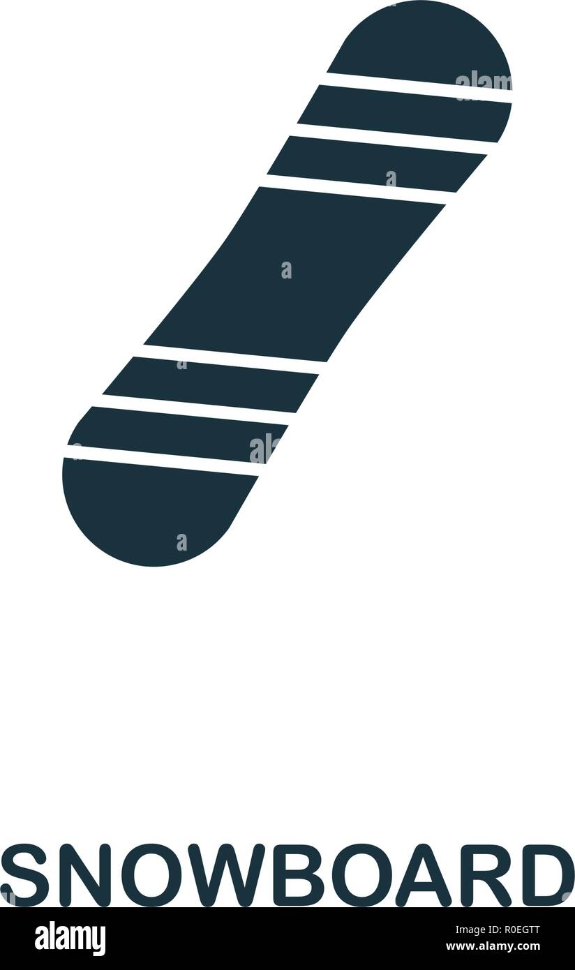 Snowboard icon. Premium style design from winter sports collection. UX and UI. Pixel perfect snowboard icon for web design, apps, software, printing u - Stock Vector