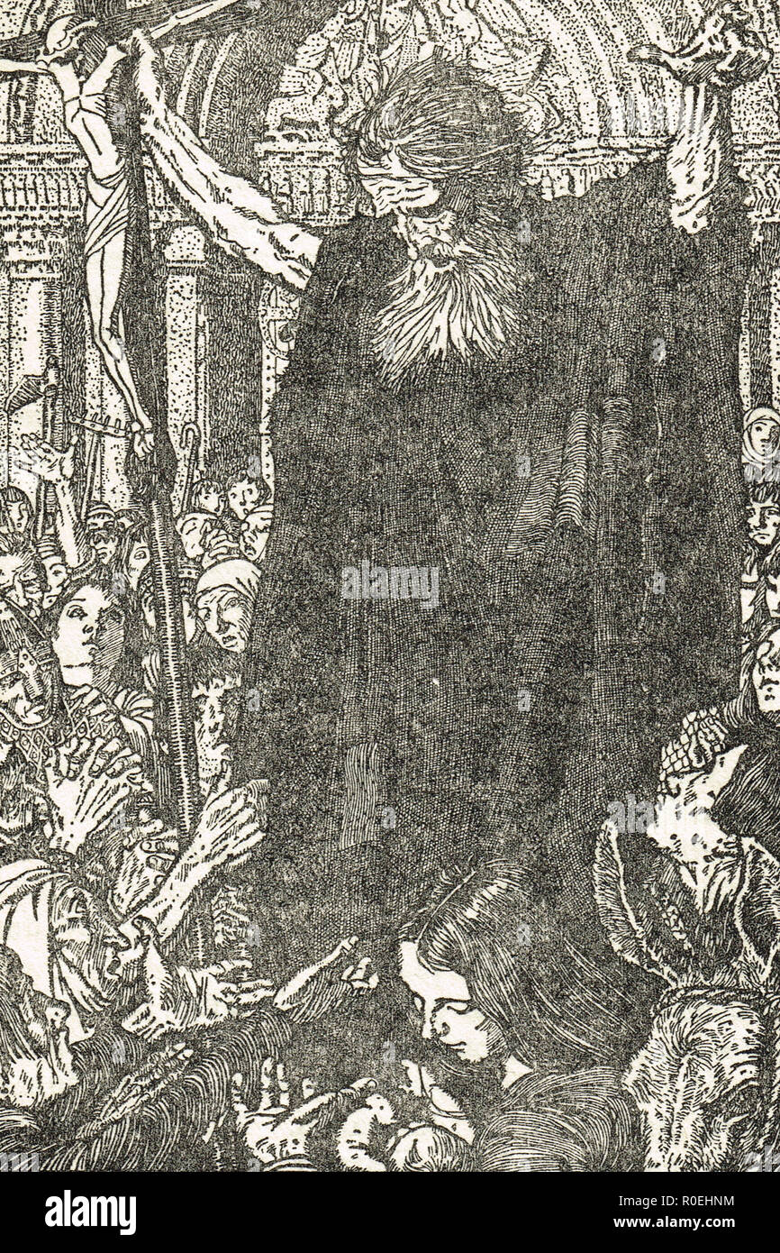 Peter the Hermit, preaching, 11th century, - Stock Image