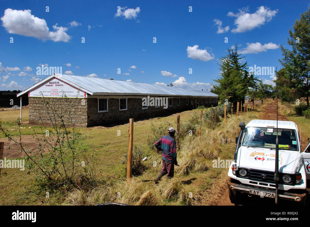 One out of four schools rebuilt by the Kenya Red Cross in Eldoret in the Rift Valley Stock Photo