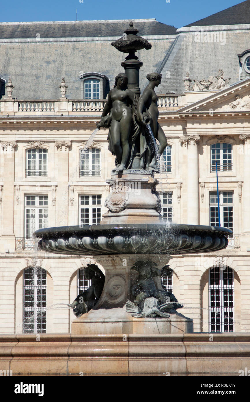 Fountain Of The Three Graces Bordeaux Stock Photos Fountain Of The