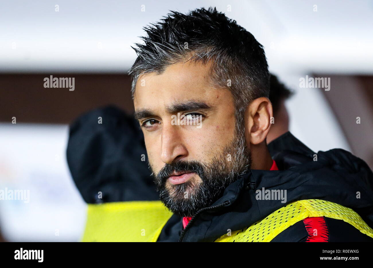 Moscow, Russia. 04th Nov, 2018. MOSCOW, RUSSIA - NOVEMBER 4, 2018: Spartak Moscow's Alexander Samedov during a 2018/2019 Russian Football Premiere League Round 13 football match between Spartak Moscow and Ural Yekaterinburg at Otrkytiye Arena. Sergei Savostyanov/TASS Credit: ITAR-TASS News Agency/Alamy Live News - Stock Image