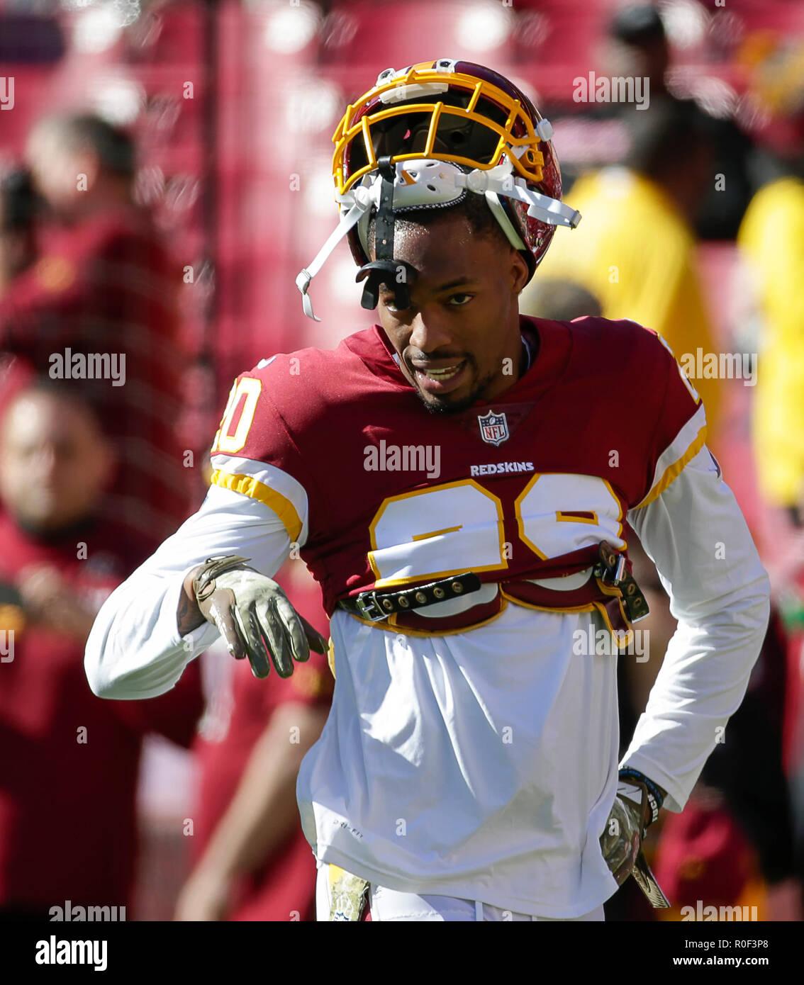 online retailer 5a24e ce94e Landover, MD, USA. 4th Nov, 2018. Washington Redskins S #20 ...