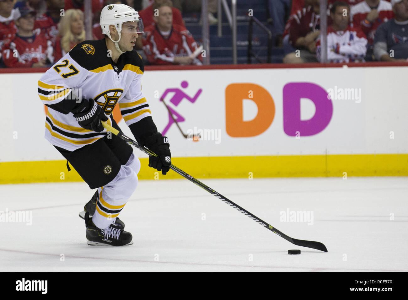 newest c5c56 67116 Washington, DC, USA. 3rd Oct, 2018. Boston Bruins defenseman ...
