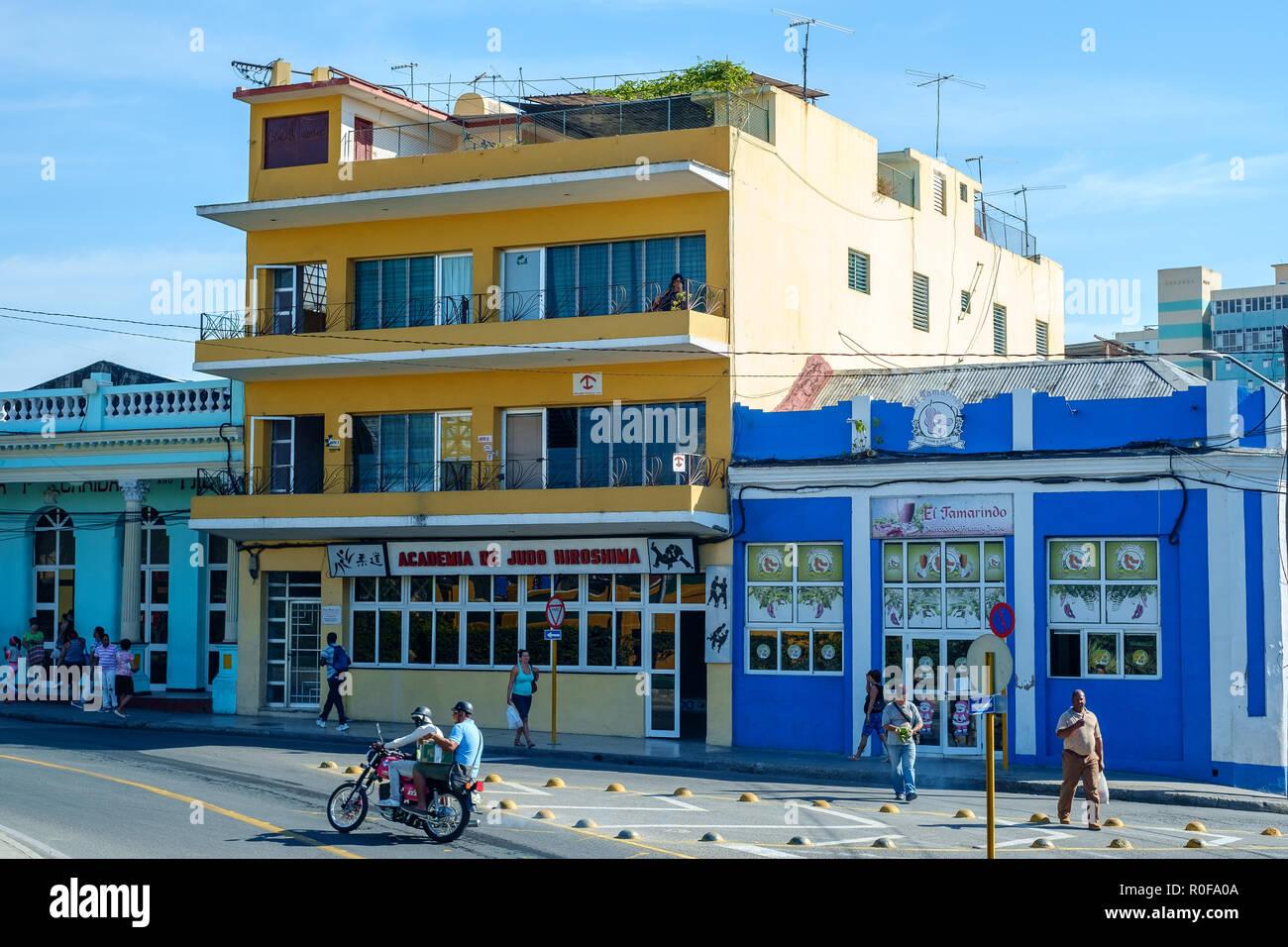 Academia de Judo Hiroshima, Santiago, Cuba - Stock Image