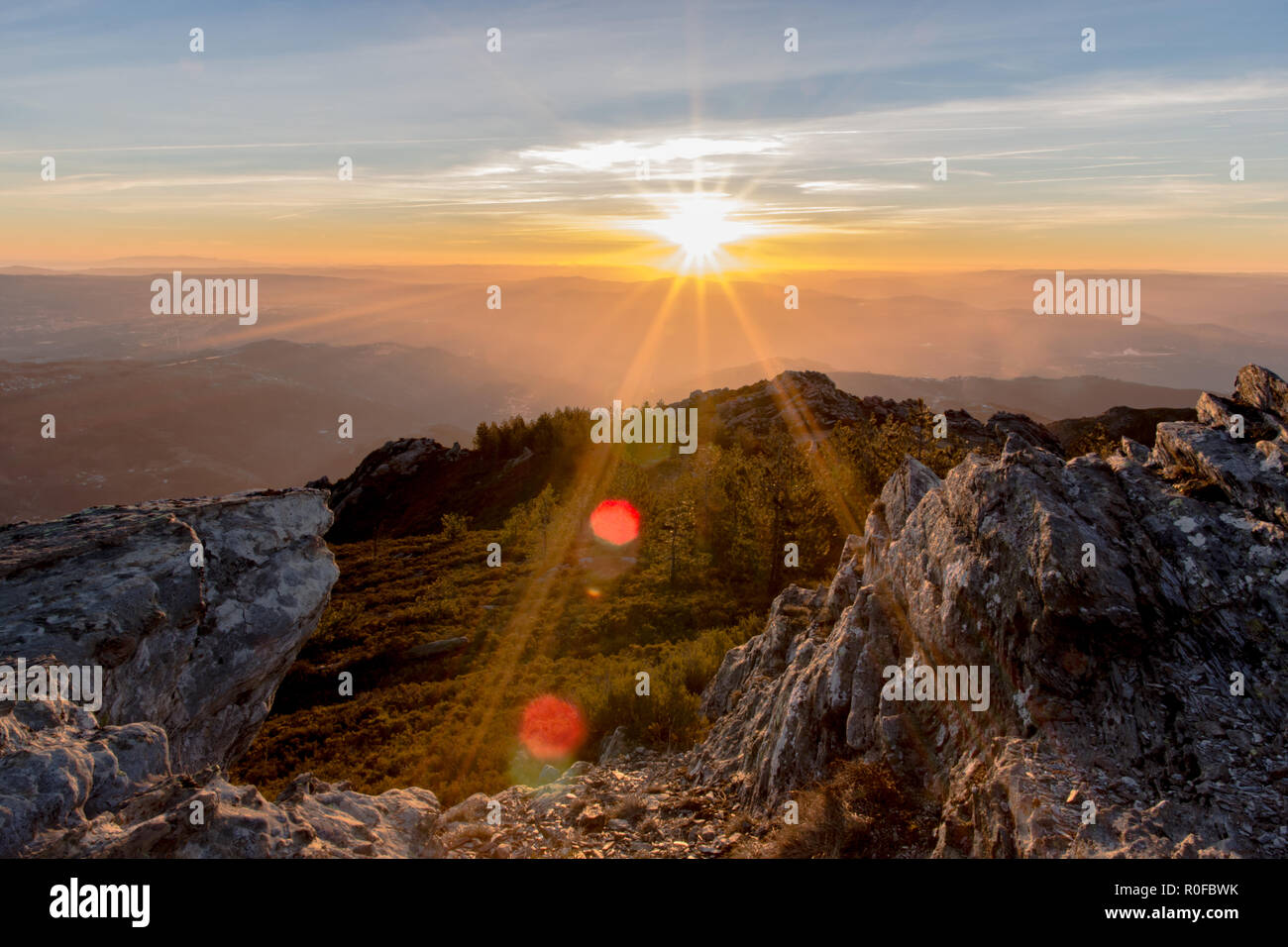 Sunrise at Marão - Stock Image