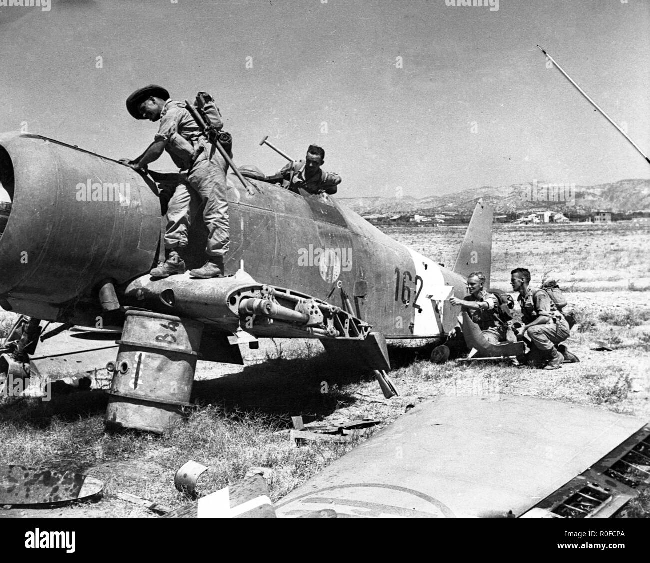 Invasion und Befreiung der Insel Sizilien mit  Kanadische Armeekräfte 10. Juli 1943 - Invasion and liberation of the island of Sicily  / Operation Husky with 1st Canadian Infantry Division at the 10 July 1943 - Stock Image