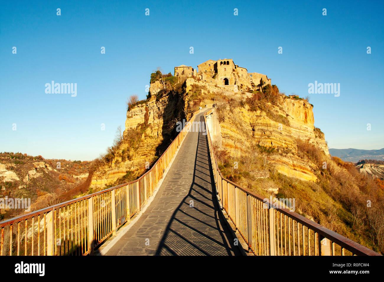 Old Abandoned City Of Civita Di Bagnoregio Viterbo Lazio Italy