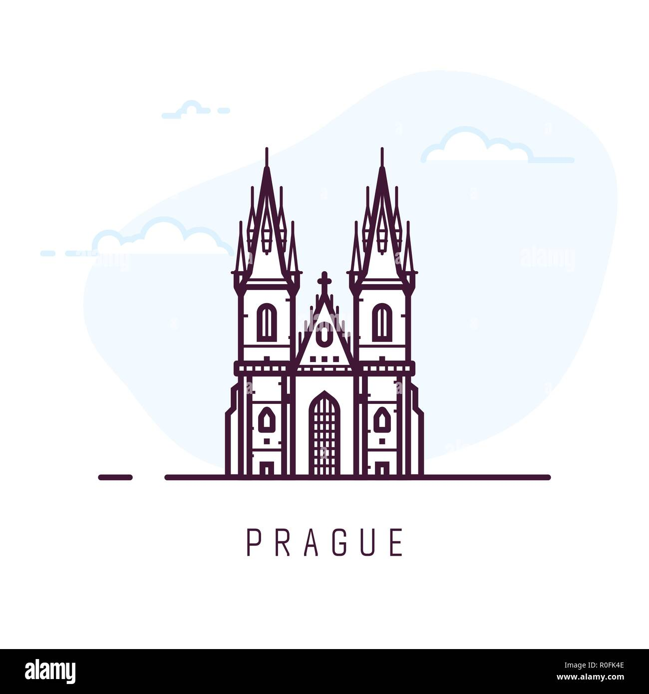 Prague city building - Stock Vector