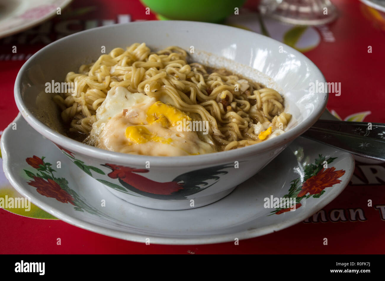 MIE REBUS - Indonesian style noodle soup - Stock Image