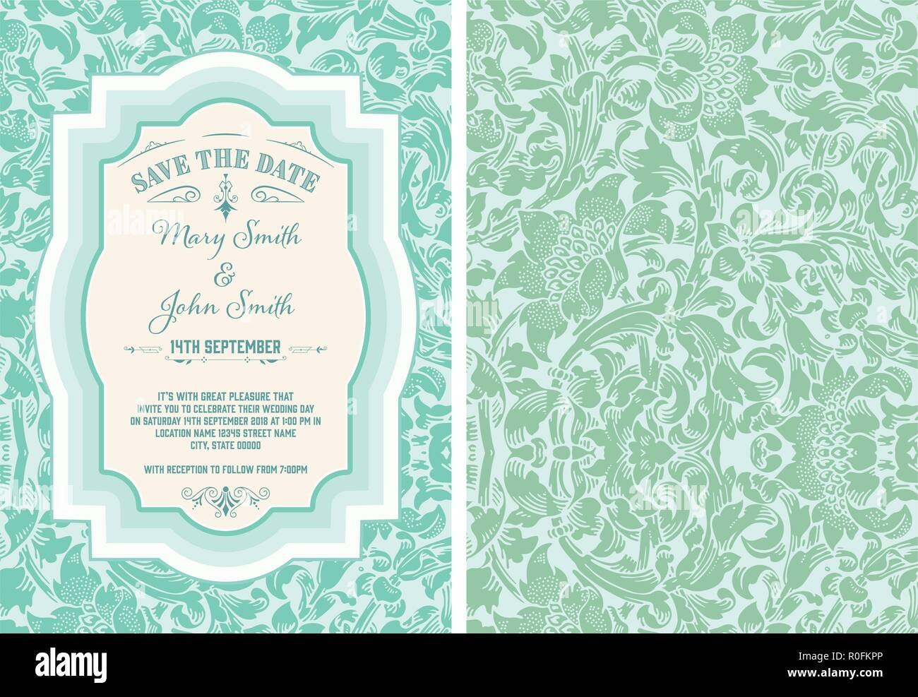 vintage save the date layout stock vector art illustration vector
