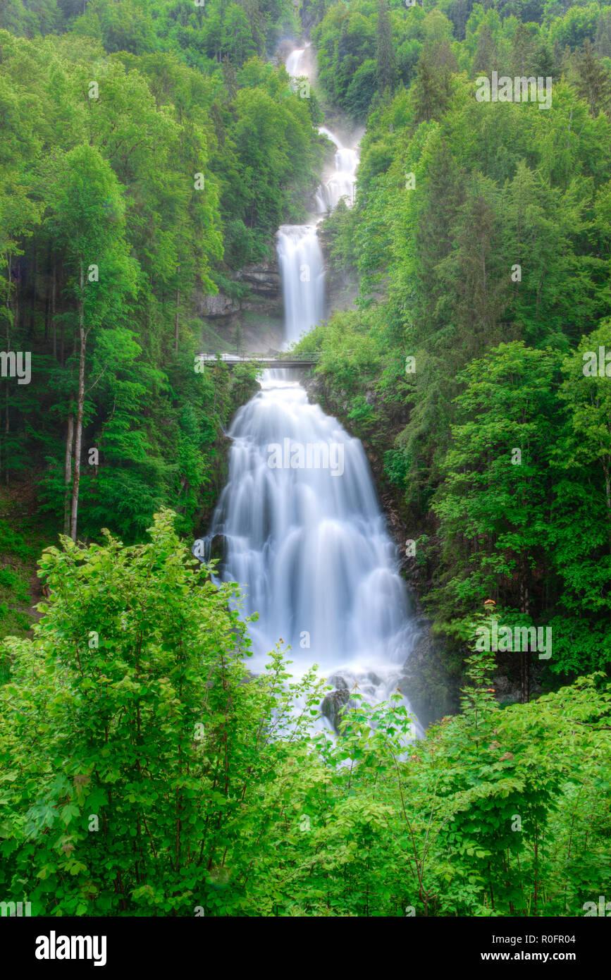 Giessbach Waterfalls near Interlaken, Switzerland Stock Photo