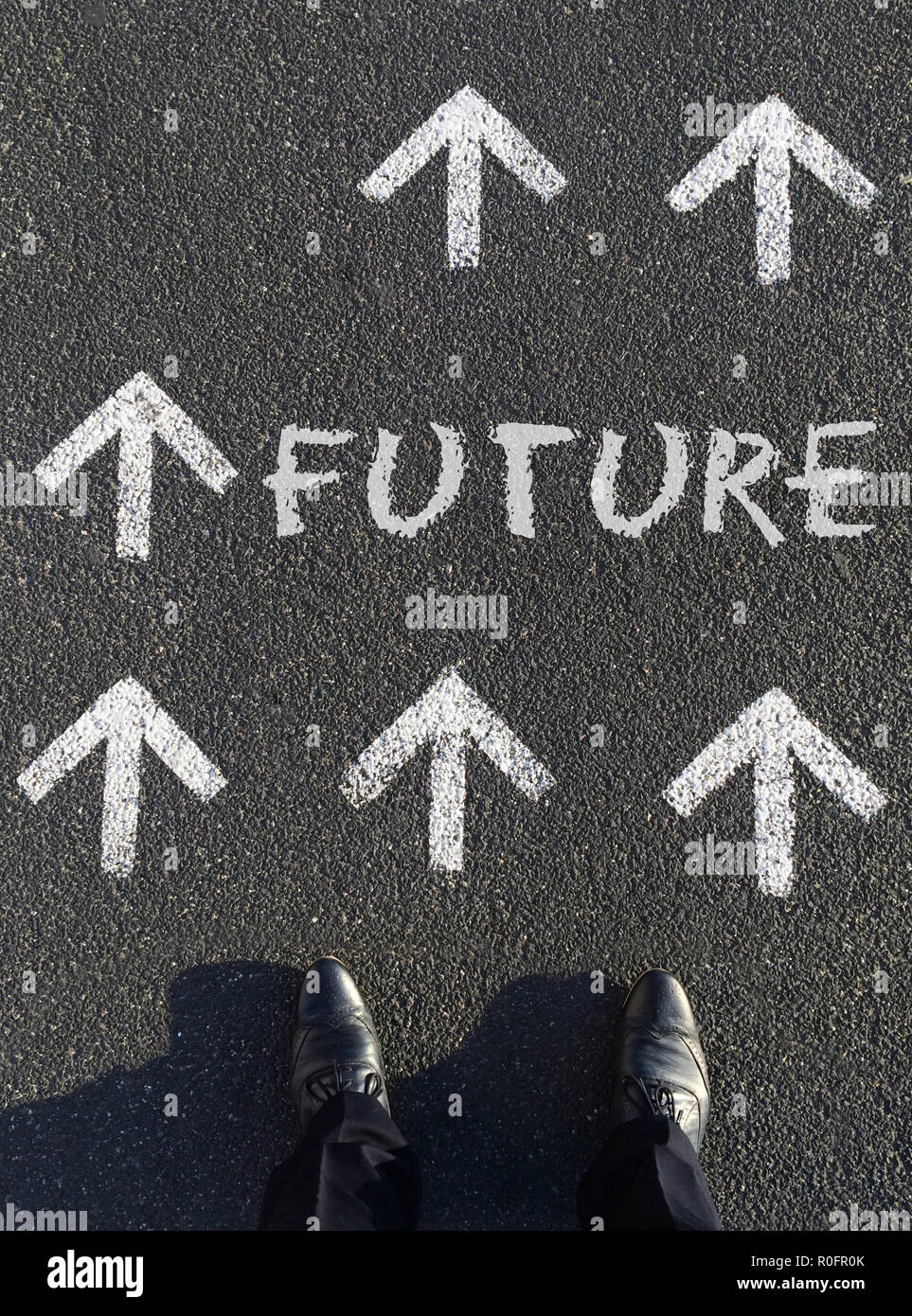 Moving forward: A man deciding on his future - Stock Image
