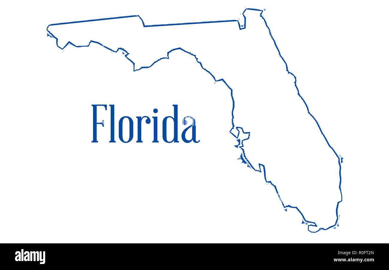 Florida Map Outline.Florida Map Outline Stock Photos Florida Map Outline Stock Images