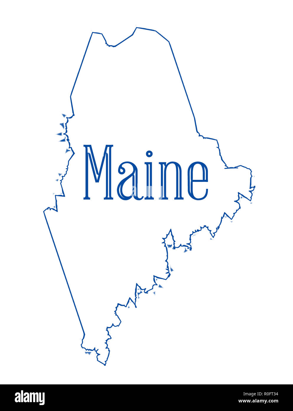 State Map Of Maine.Maine State Map Stock Photos Maine State Map Stock Images Alamy