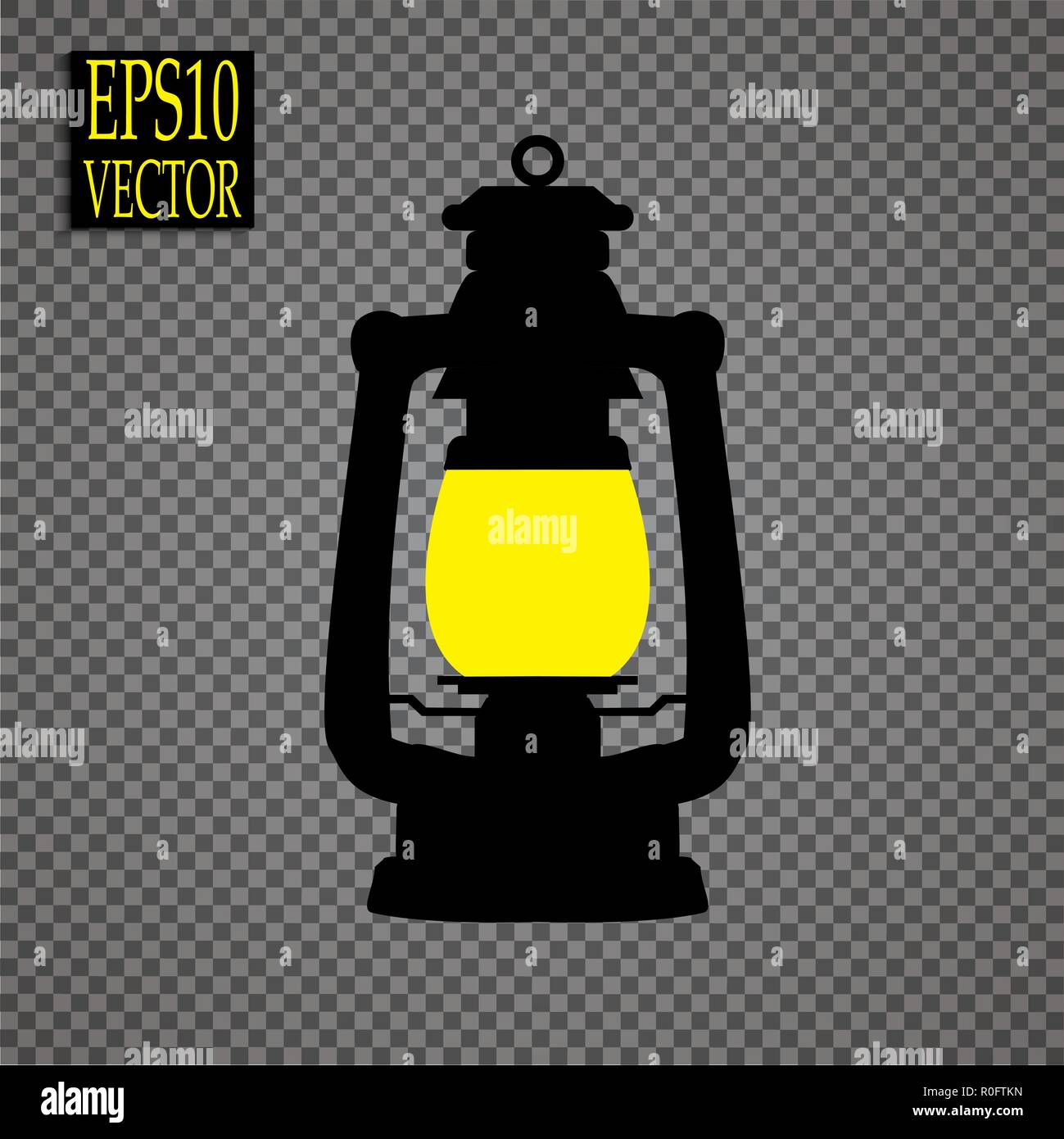 Lantern icon in black style isolated on white background. Mine symbol stock vector illustration - Stock Vector
