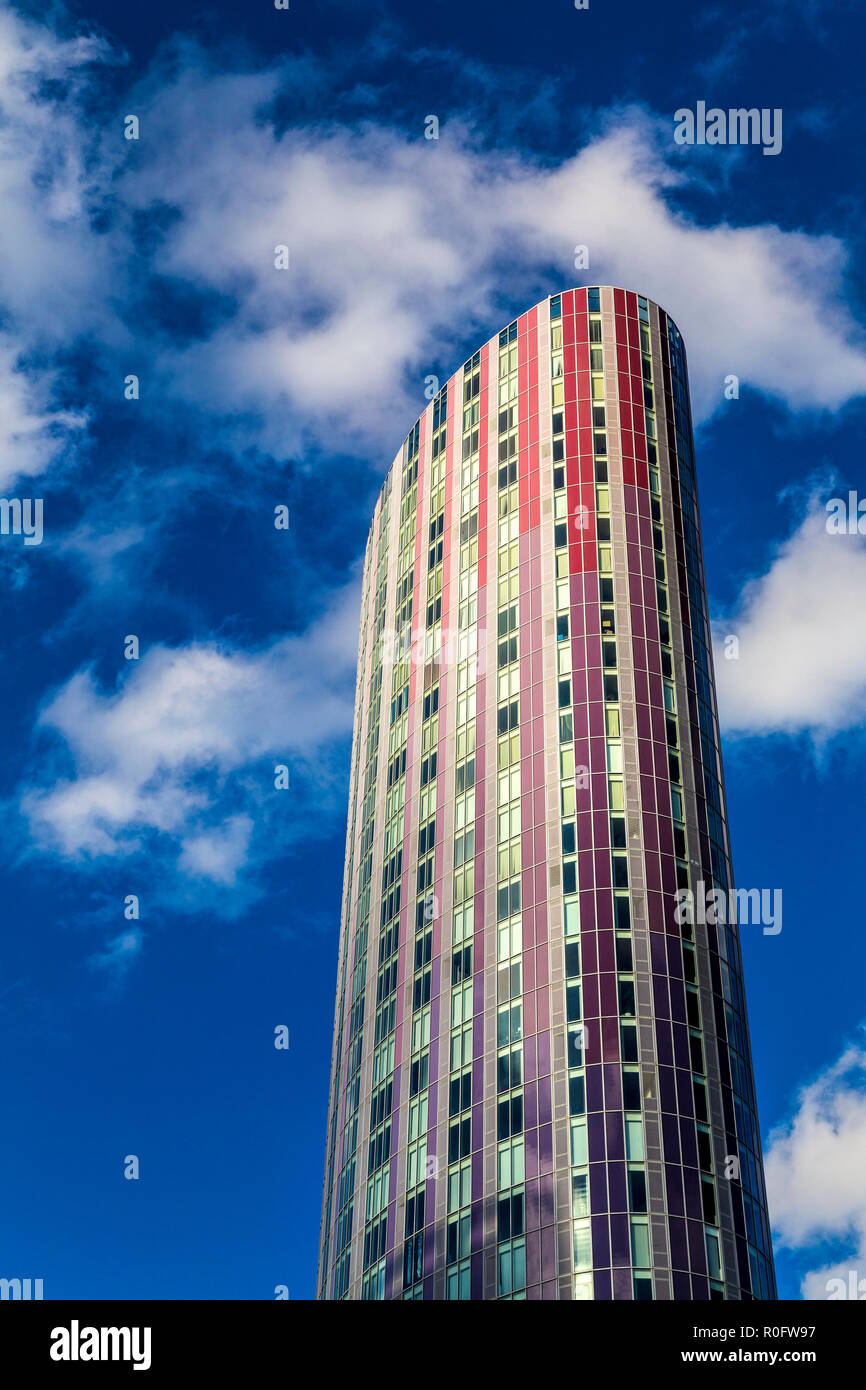 Halo (150 High Street) residential tower in Stratford, London, UK Stock Photo