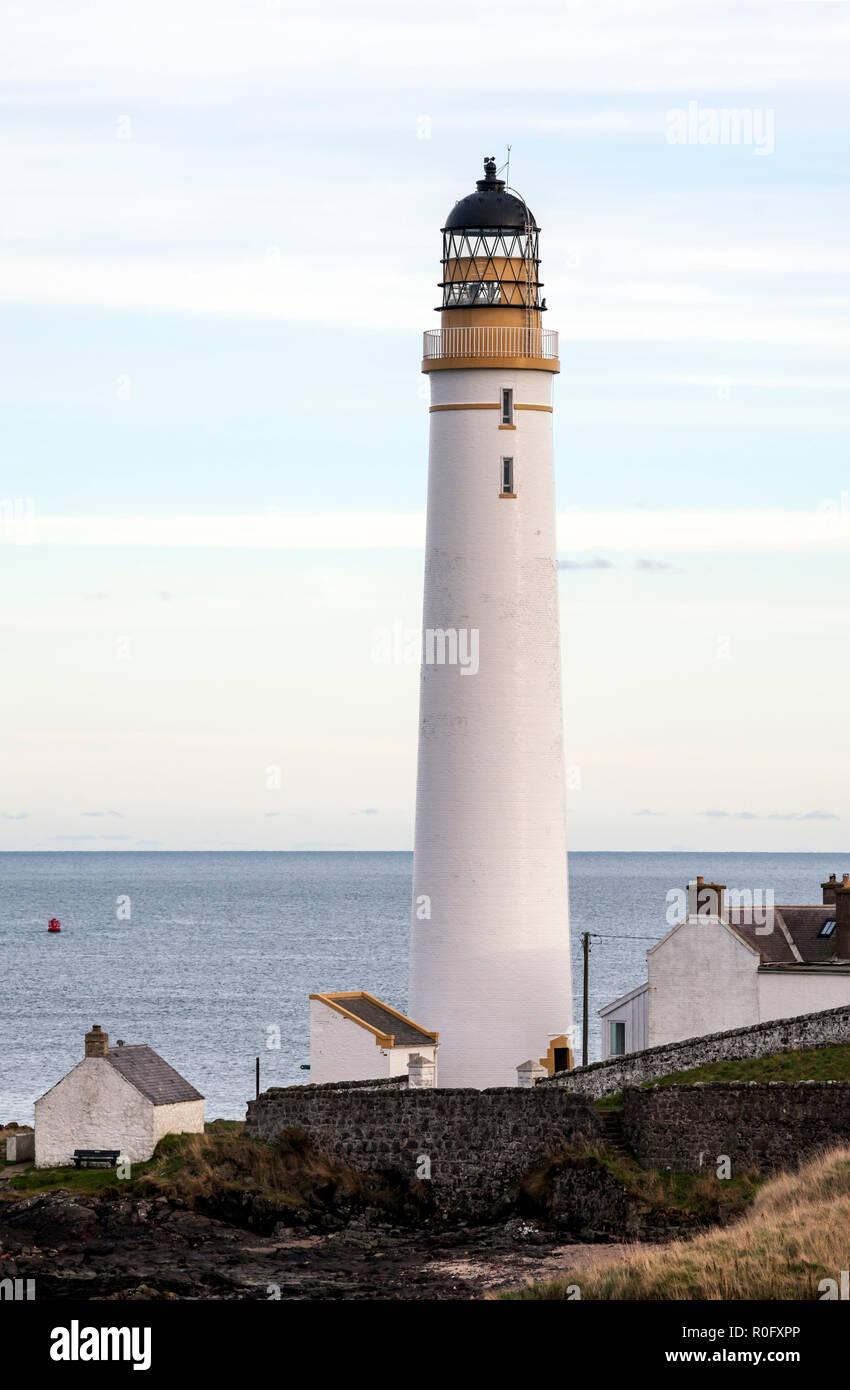 Ferryden Lighthouse , Montrose, Angus, Scotland, UK - Stock Image