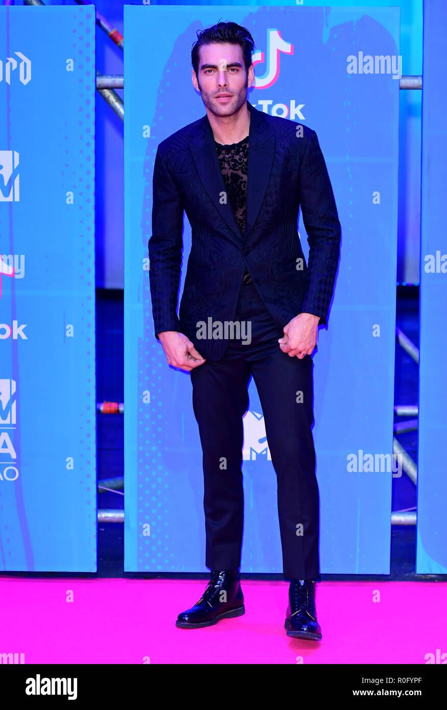 Jon Kortajarena Attending The Mtv Europe Music Awards 2018 Held At