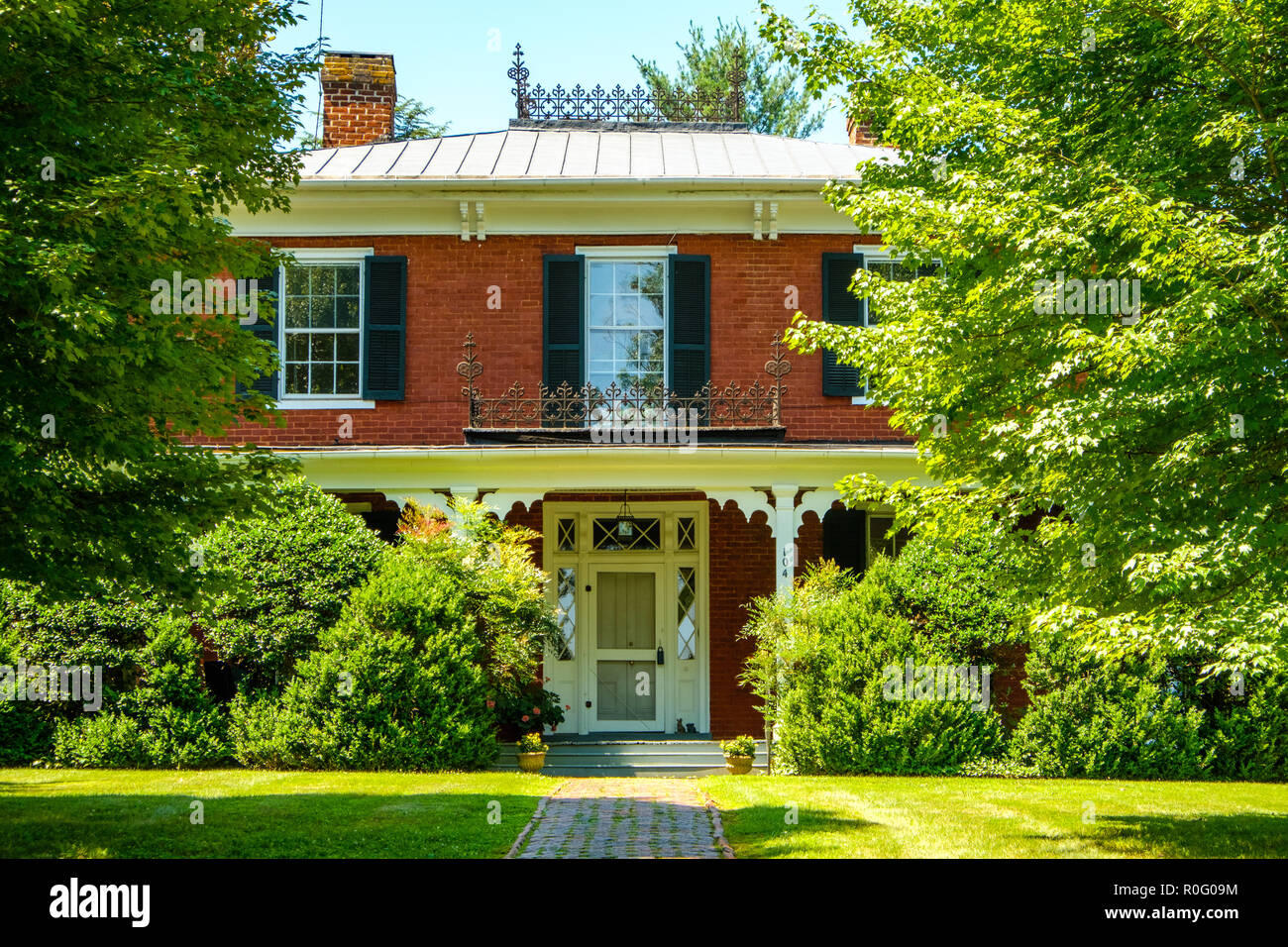Edmondson-Penick House, 104 White Street, Lexington, Virginia - Stock Image
