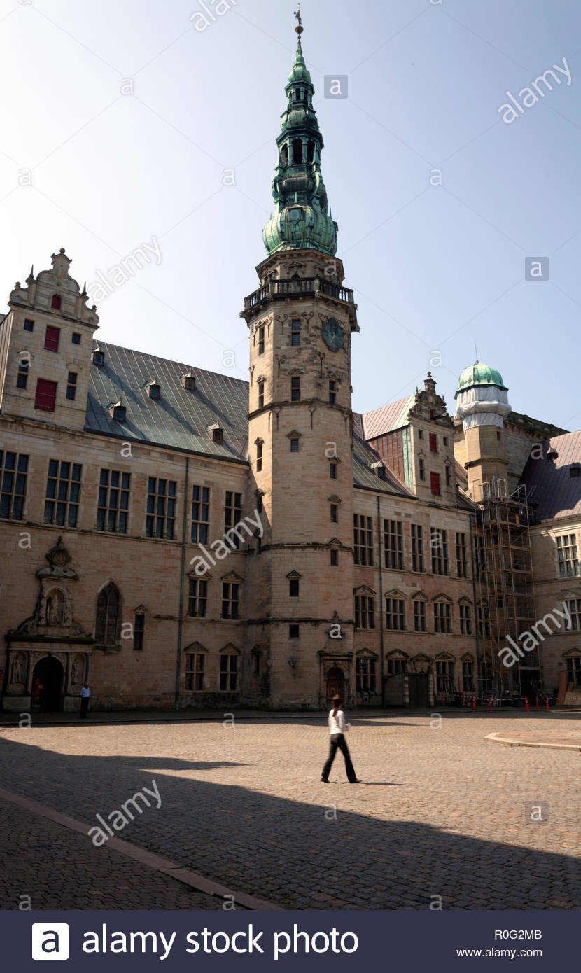 The tower of Kronborg castle - Stock Image