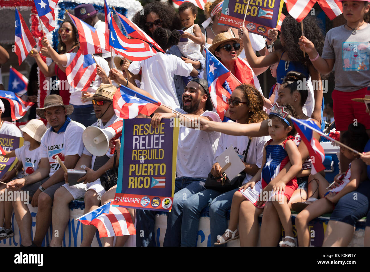 Chicago, Illinois, USA - June 16, 2018: The Puerto Rican People's Parade