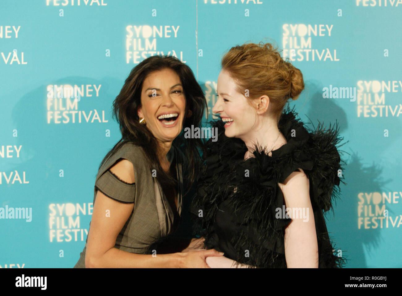 Teri Hatcher Attends The Premiere Of Coraline With Miranda Otto As Part Of The Sydney Film Festival Sydney Australia 10 06 09 Stock Photo Alamy