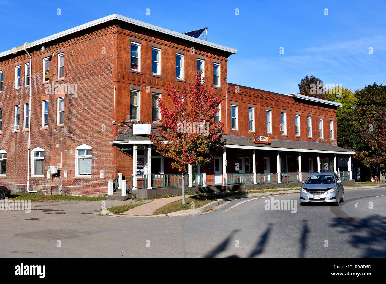 This red brick building is a town icon once known as the Sussex Hotel and its' closeness to the train station made it on of the busiest hotels in the  - Stock Image