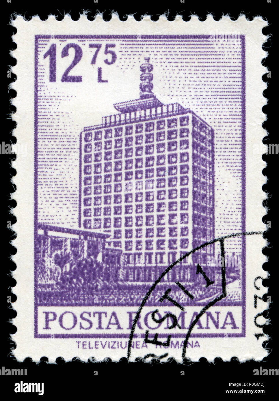 Postage stamp from Romania in the Definitives - Buildings series issued in 1972 - Stock Image