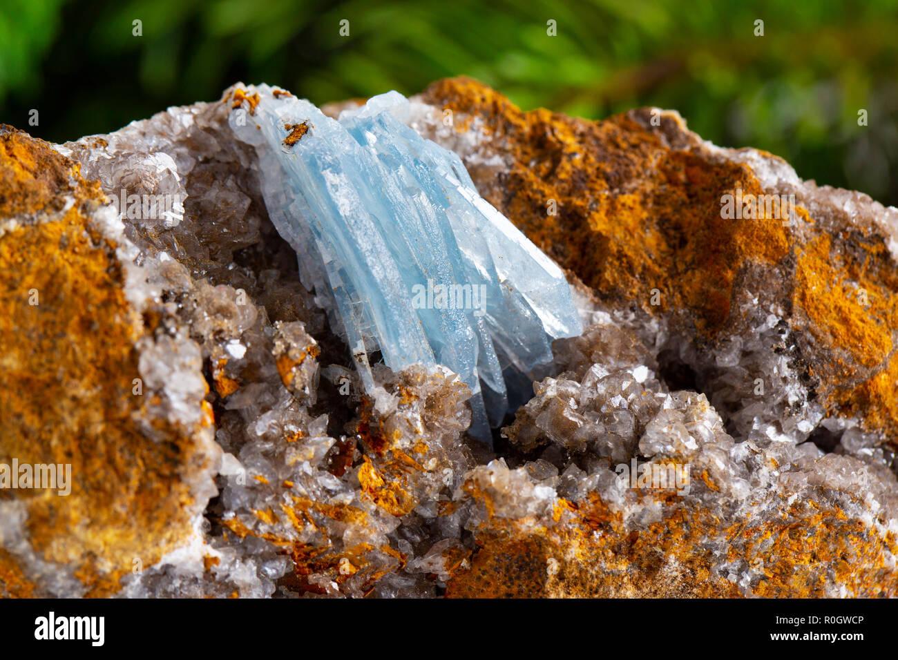 Barite on Calcite, Stoneham, weld County, Colorado gem - Stock Image